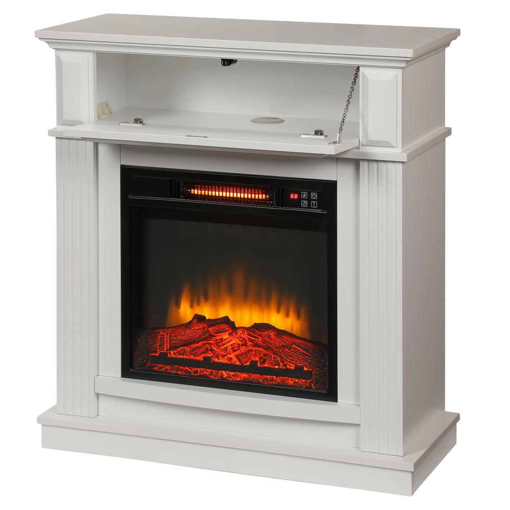Fireplace Inserts Lexington Ky Hampton Bay Parksley 31 In Freestanding Compact Infrared Electric Fireplace In Cherry
