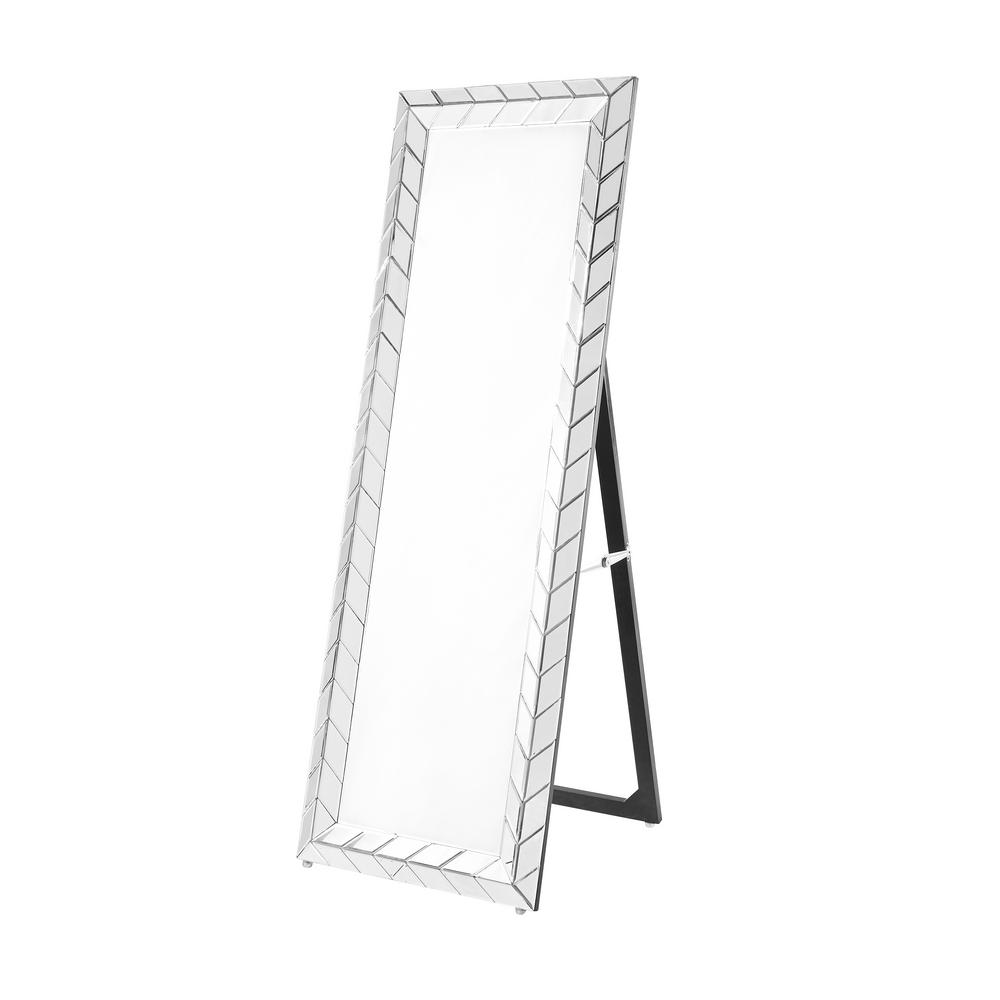 Standing Mirror Emory 22 In Contemporary Standing Full Length Mirror With Clear Mdf Frame Rectangle Shape