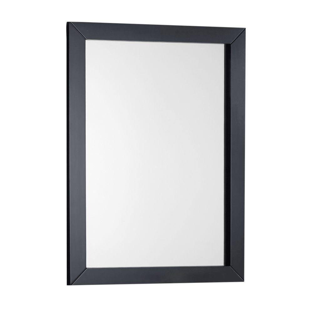 Bathroom With Mirrors Simpli Home Winston 22 In X 30 In Bath Vanity Decor Mirror In Black