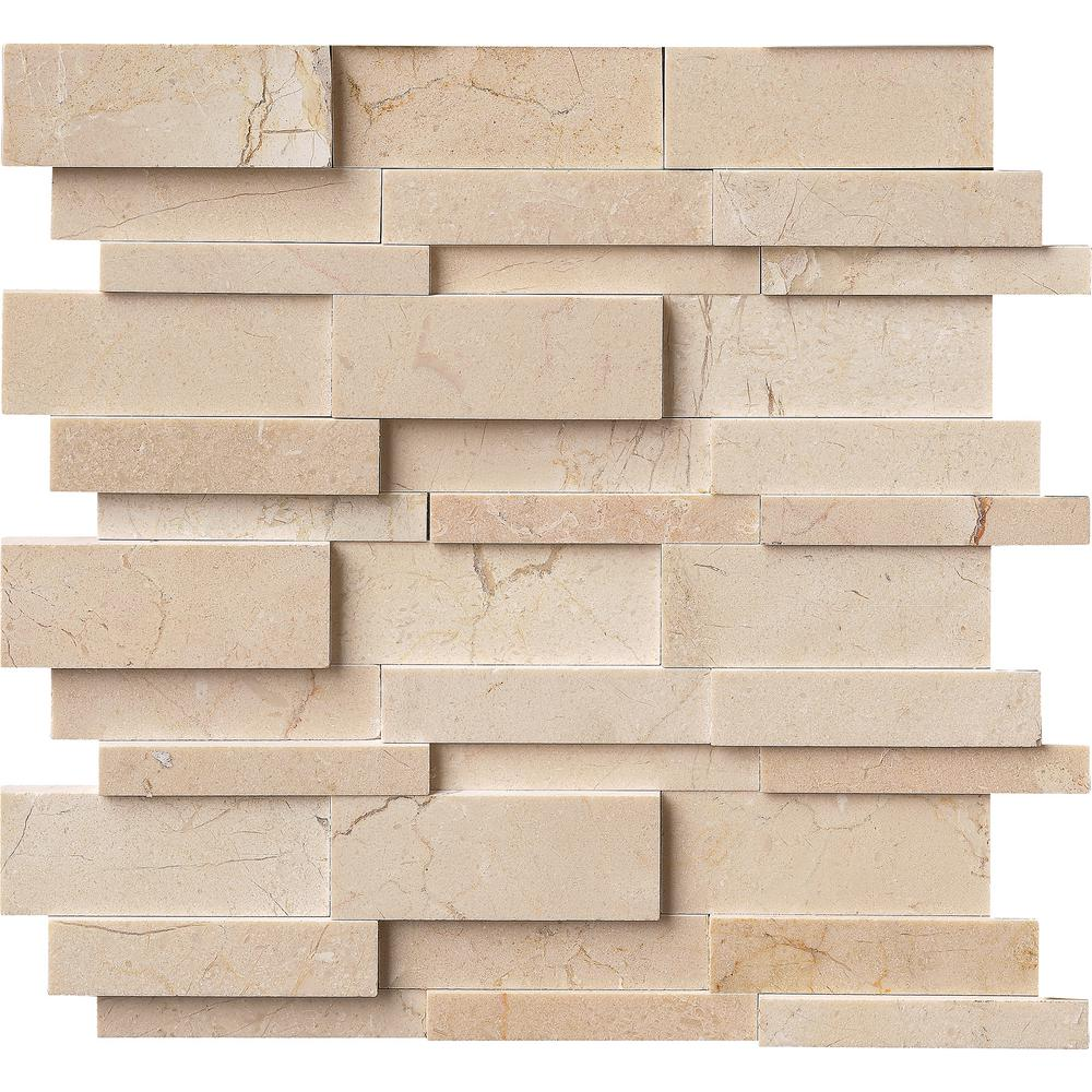 3d Brick Effect Home Depot Brick Wallpaper Msi Hedron 3d Interlocking 12 In X 12 In X 10 Mm Marble
