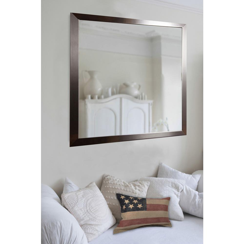 Large Wall Mirrors 38 In X 44 In Large Flat Stainless Non Beveled Floor Wall Mirror
