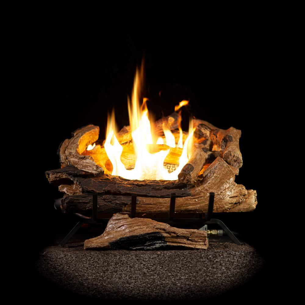 How Much Do Gas Fireplace Logs Cost Emberglow American Elm 18 In Vent Free Natural Gas Fireplace Logs