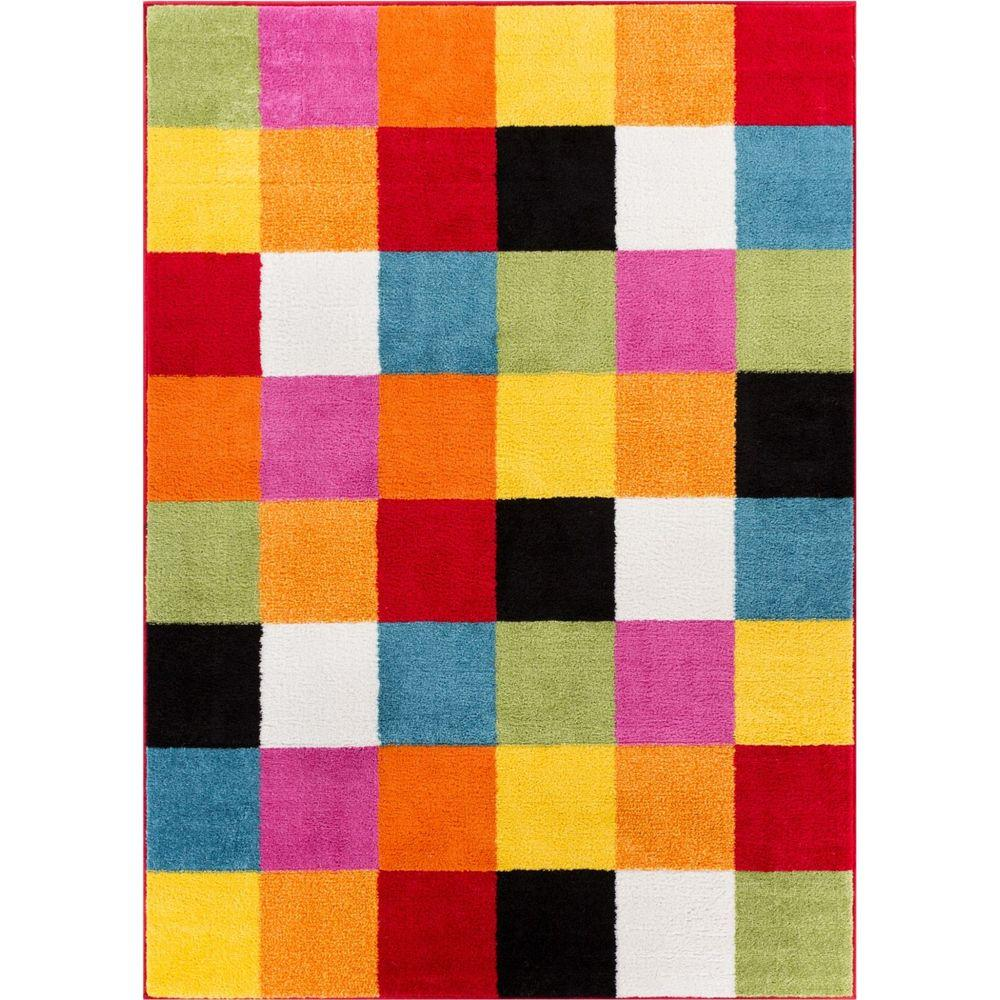 Rugs For Kids Well Woven Starbright Bright Square Multi 5 Ft X 7 Ft Kids Area Rug