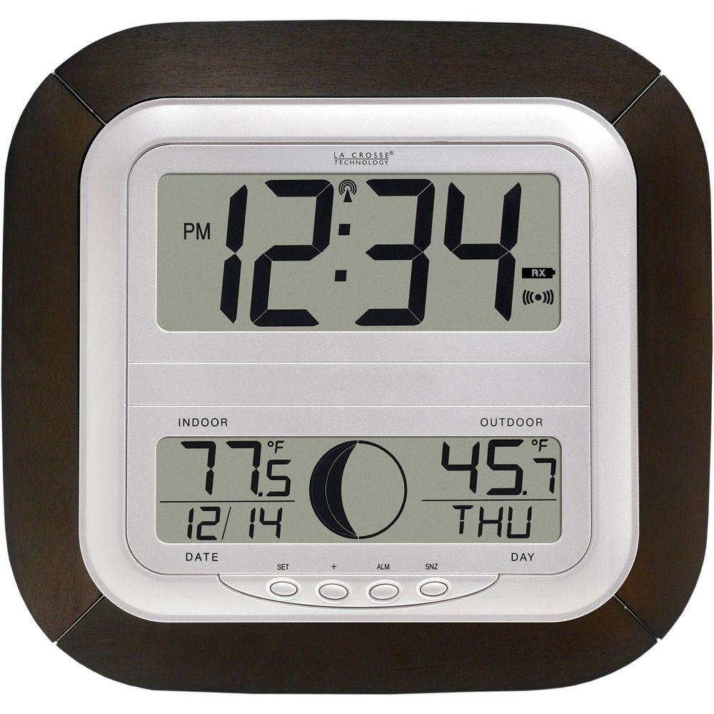 Digital Clock Digital Wireless Atomic Clock With Moon Phase