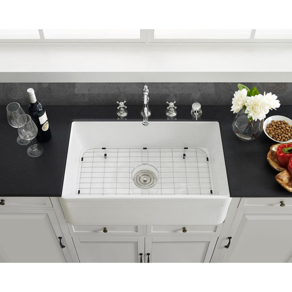Swiss Madison 25 In X 12 In Stainless Steel Kitchen Sink Grid Sm Kr243 The Home Depot