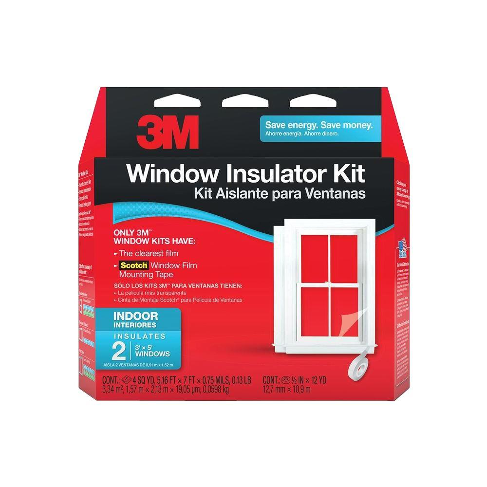 How To Insulate Windows 3m 62 In X 84 In Clear Plastic Indoor Window Kit