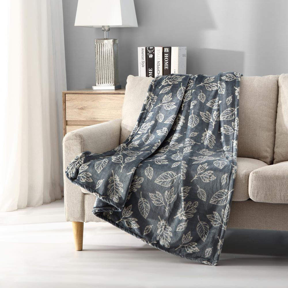 Throw Blankets Mhf Home Falling Leaves Plush Throw Blanket