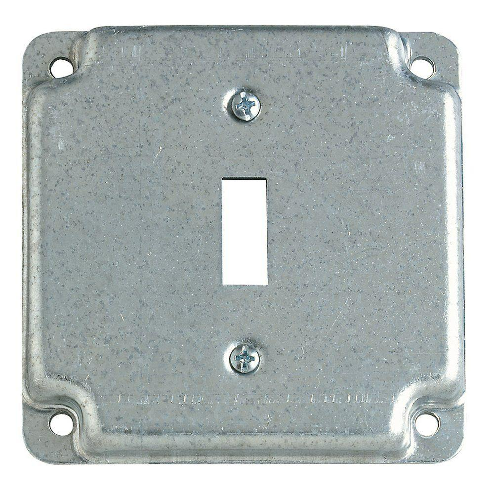 Square Box Steel City 2 Gang 4 In Square Metal Electrical Box Cover For Single Toggle Switch Receptacle Case Of 10