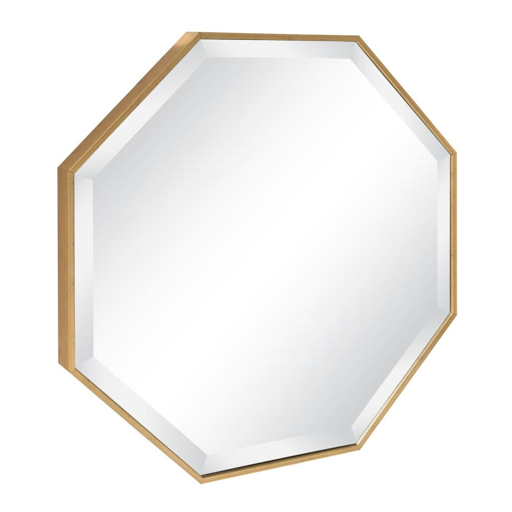 Sun Shaped Mirrors Kate And Laurel Rhodes Octagon Gold Mirror 213027 The Home Depot