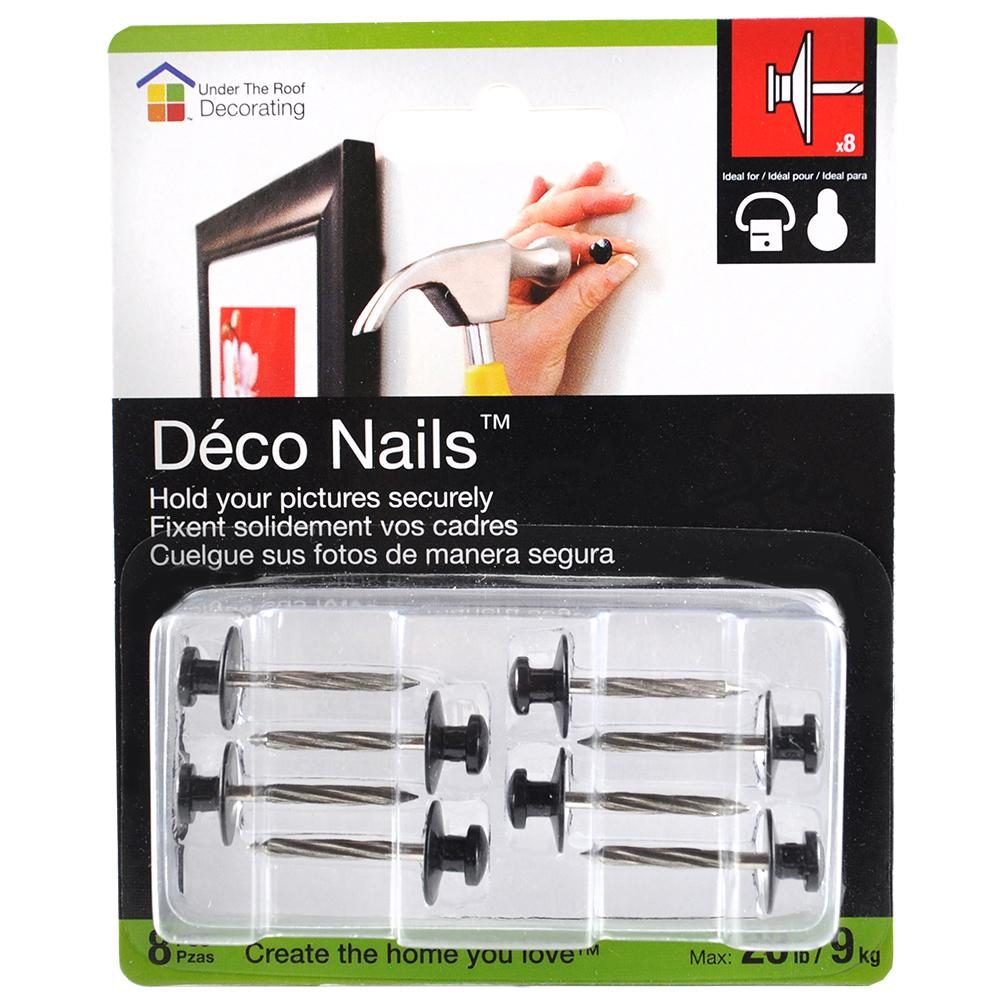 Dimension Standard Cadre Under The Roof Decorating 5 In Small Head Deco Nails 8 Pack