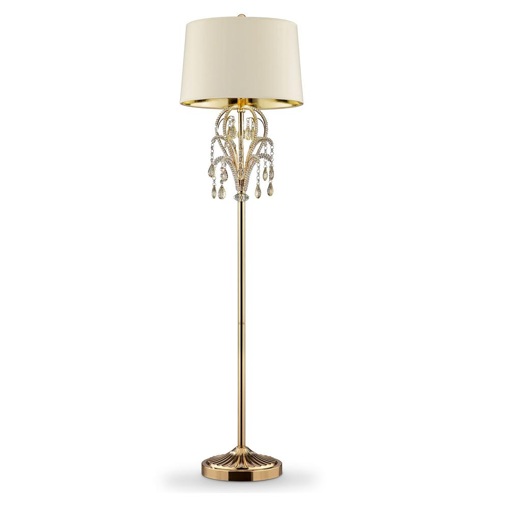Gold Floor Reading Lamp 62 In Amoruccio Crystal Gold Floor Lamp