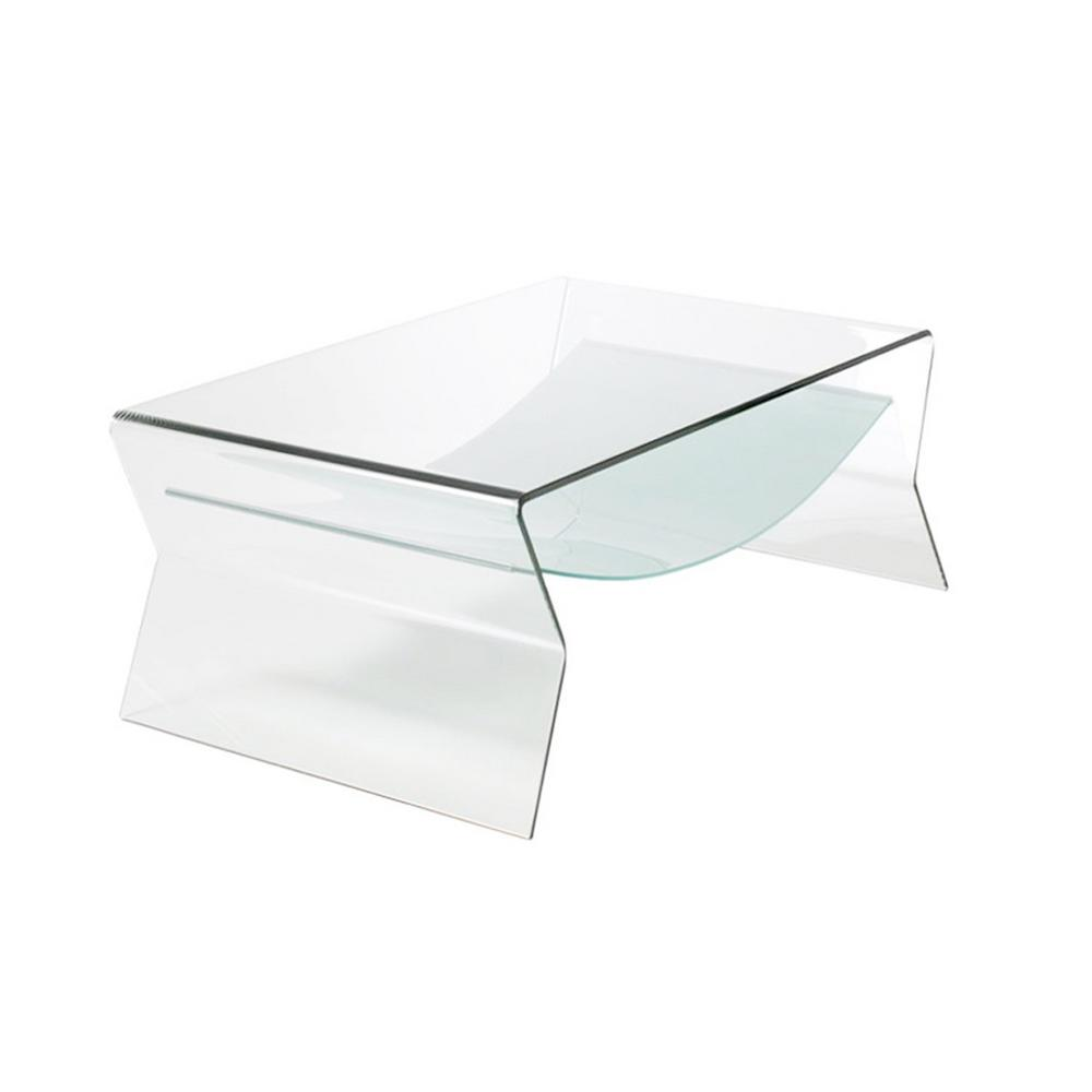 Coffee And Side Tables Fab Glass And Mirror 1 2 In Thick Bent Glass Side Table With Shelf