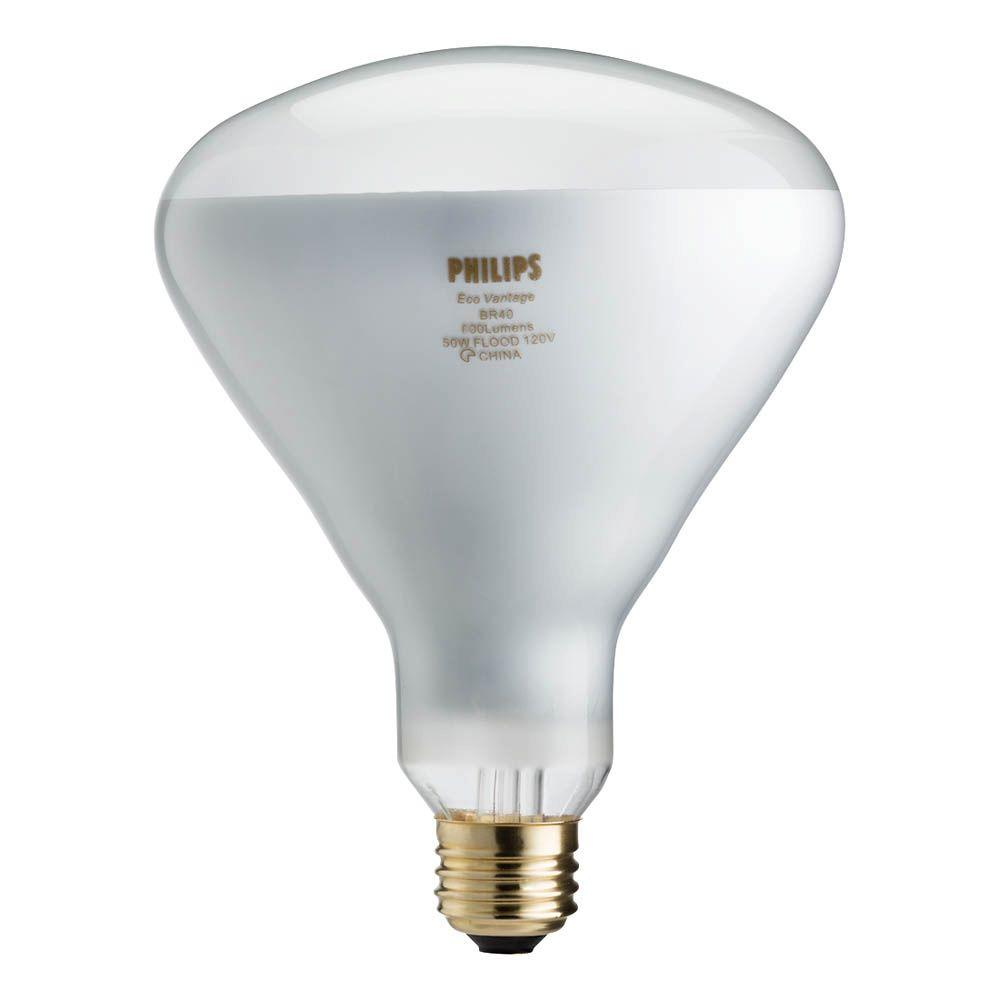 Recessed Lighting Bulb Installation Philips 65-watt Equivalent Br40 Halogen Flood Light Bulb-459404 - The Home Depot