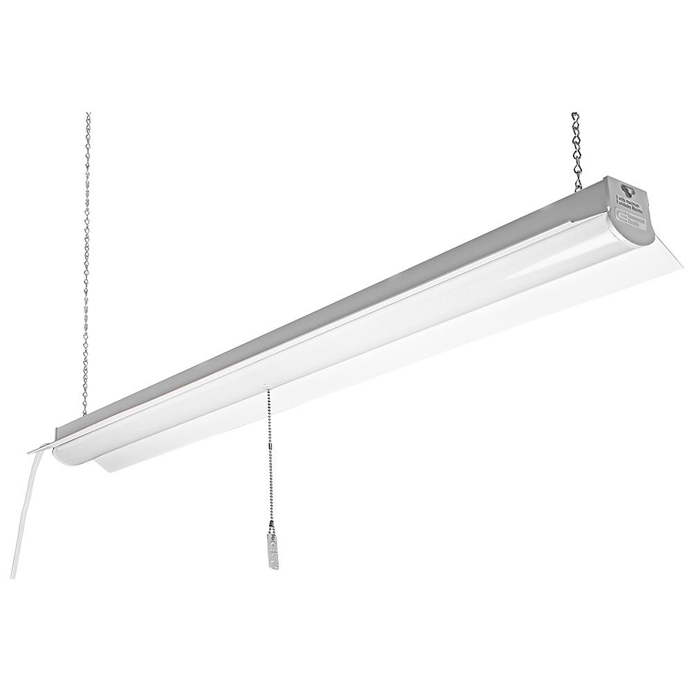 Led White Commercial Electric 4000k 4 Ft 64 Watt Equivalent Integrated Led White Linkable Shop Light