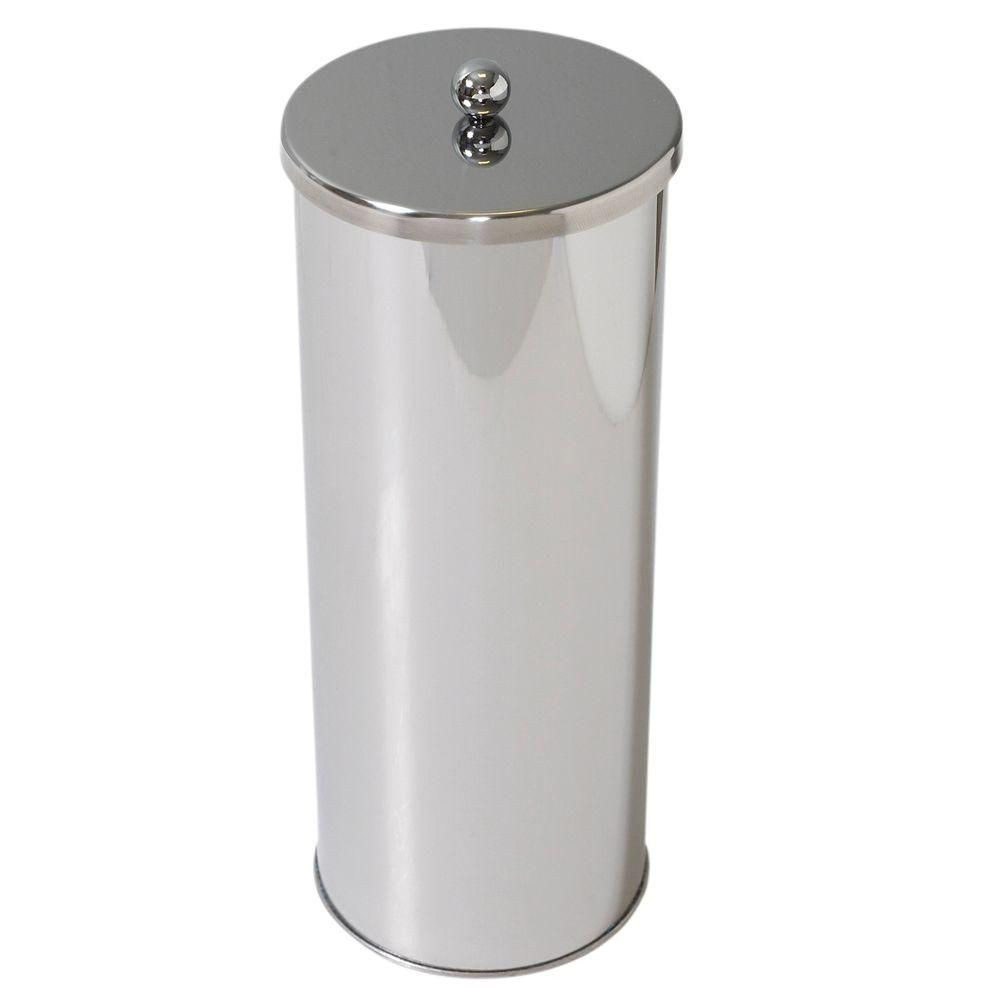 Covered Toilet Paper Storage Zenna Home Toilet Paper Holder Canister In Polished Chrome