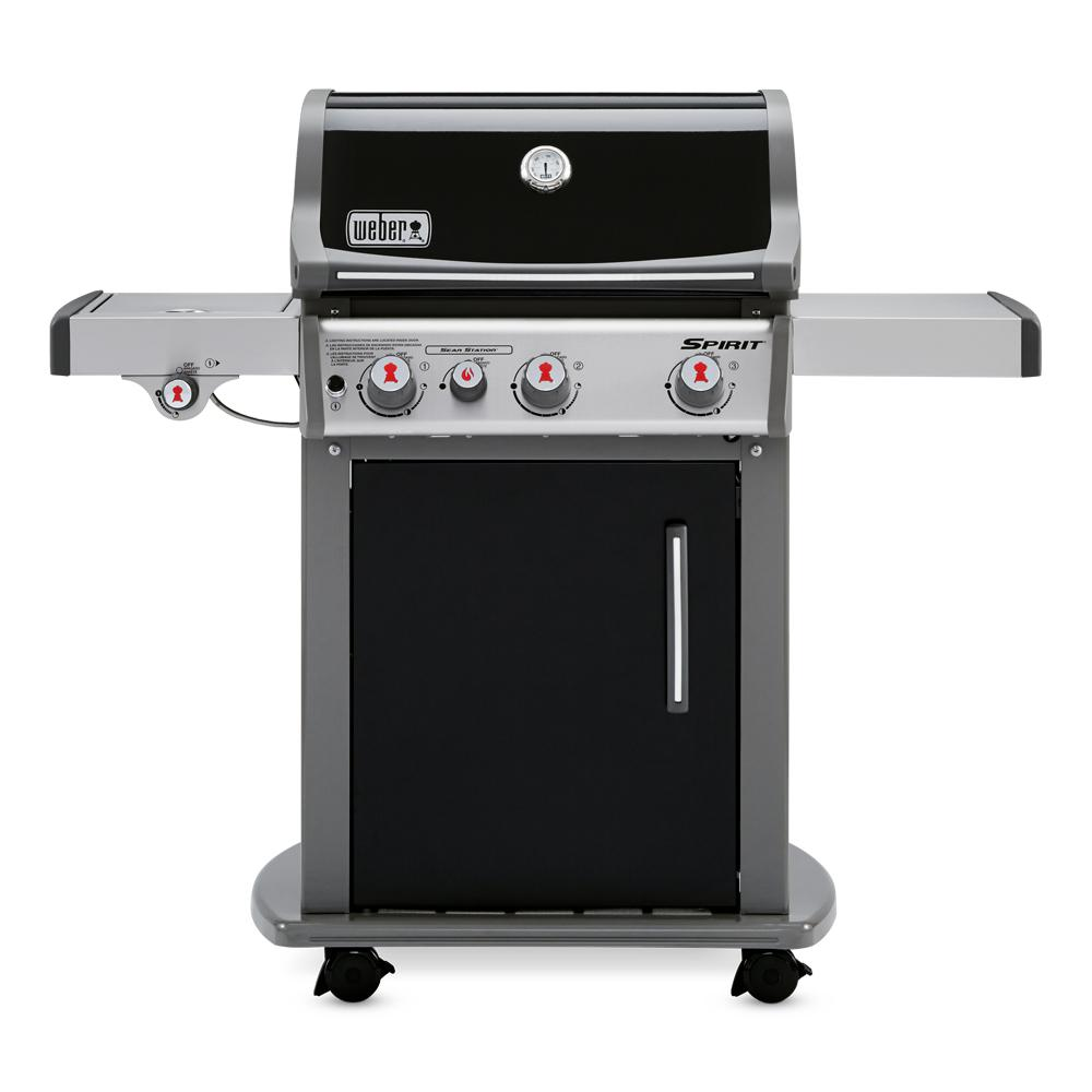 Gasgrill Seattle Weber Spirit E 330 3 Burner Liquid Propane Gas Grill In Black With Built In Thermometer