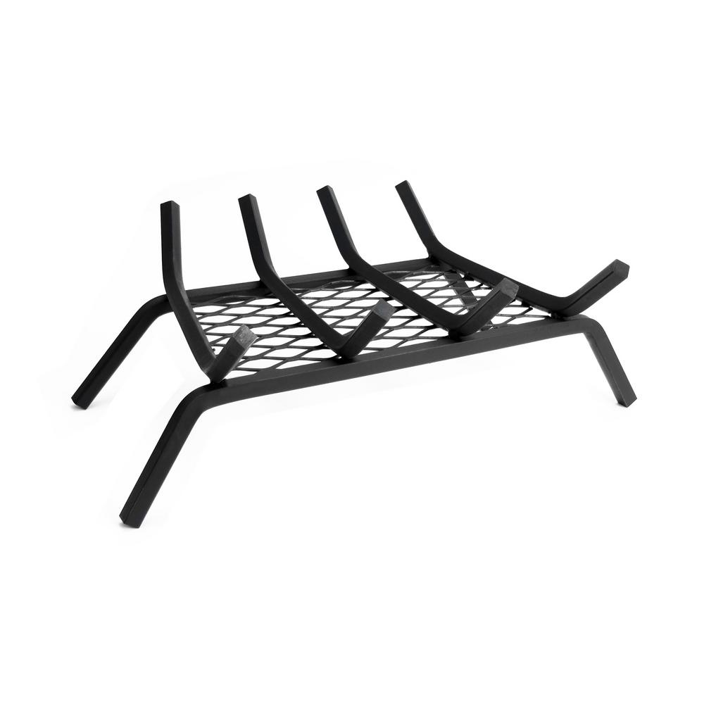 18 Inch Fireplace Grate Pleasant Hearth 1 2 In 18 In 4 Bar Steel Fireplace Grate With Ember Retainer