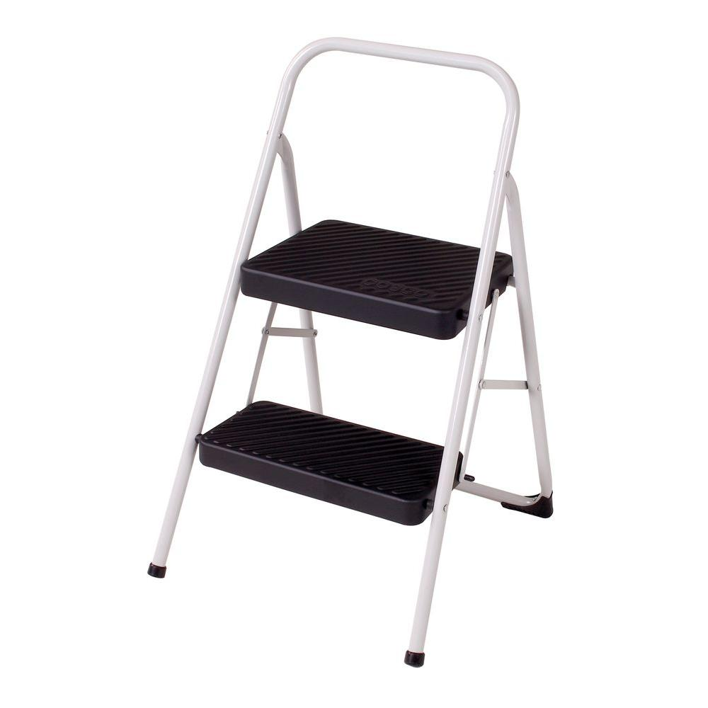 Metal Step Stool Cosco 2 Step Steel Folding Step Stool Ladder With 200 Lb Load Capacity