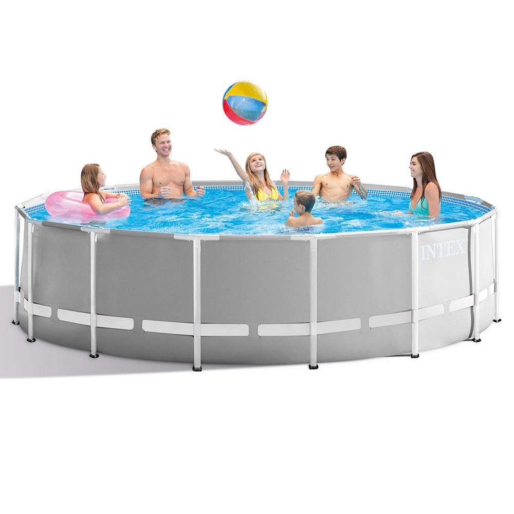 Intex Pool Frame Rund Intex Prism 15 Ft X 48 In D Round Above Ground Hybrid Metal Frame