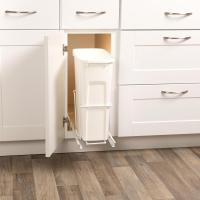 Cabinet Pull-Out Trash Can 20 Qt. Bin Can Track System ...