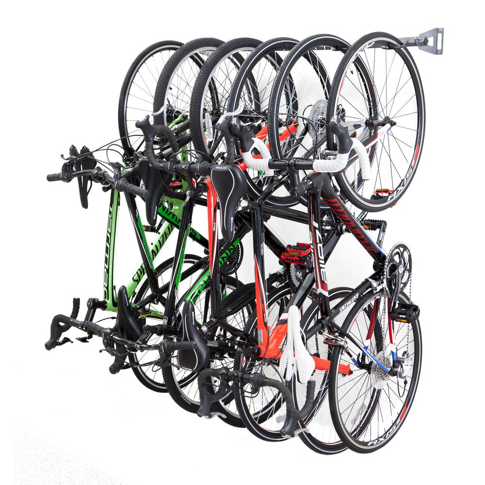 Tidy Garage Bike Rack Installation Monkey Bars 51 In 6 Bike Storage Rack