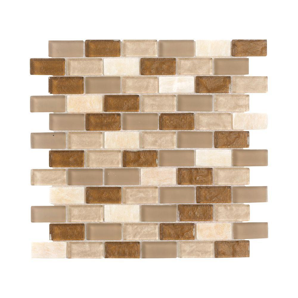 Jeffrey Court Honey Onyx Brick 12 In X 12 In X 8 Mm