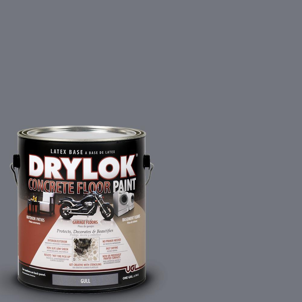 Garage Floor Paint In Basement Drylok 1 Gal Gull Latex Concrete Floor Paint