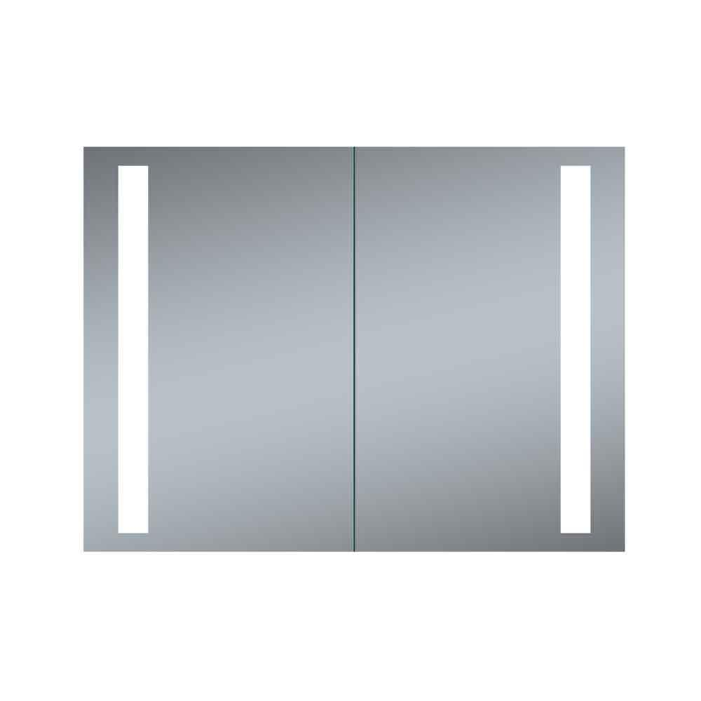 Recessed Shaving Cabinets Innoci Usa Double Door Melania 40 In X 26 In Led Recessed Medicine Cabinet