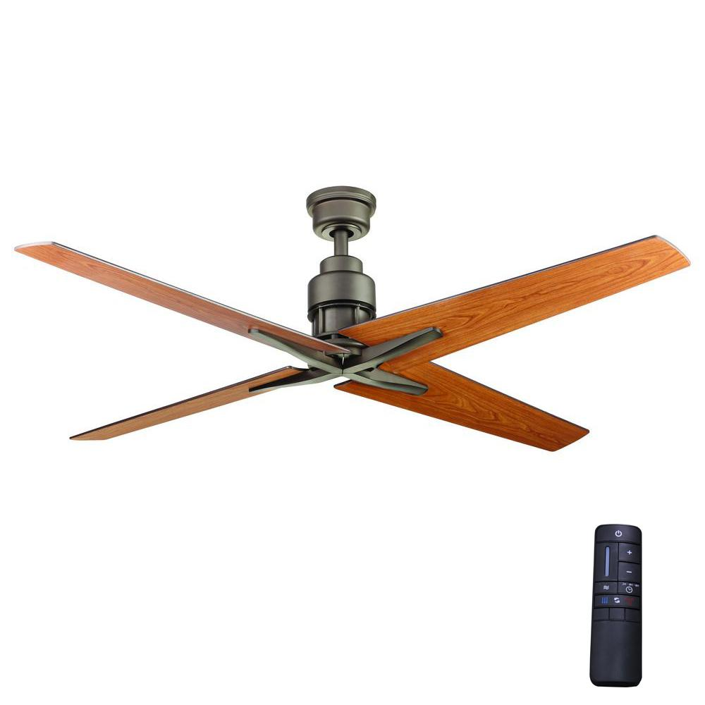 Industrial Style Ceiling Fans Home Decorators Collection Virginia Highland 56 In Indoor Espresso Bronze Ceiling Fan With Remote Control