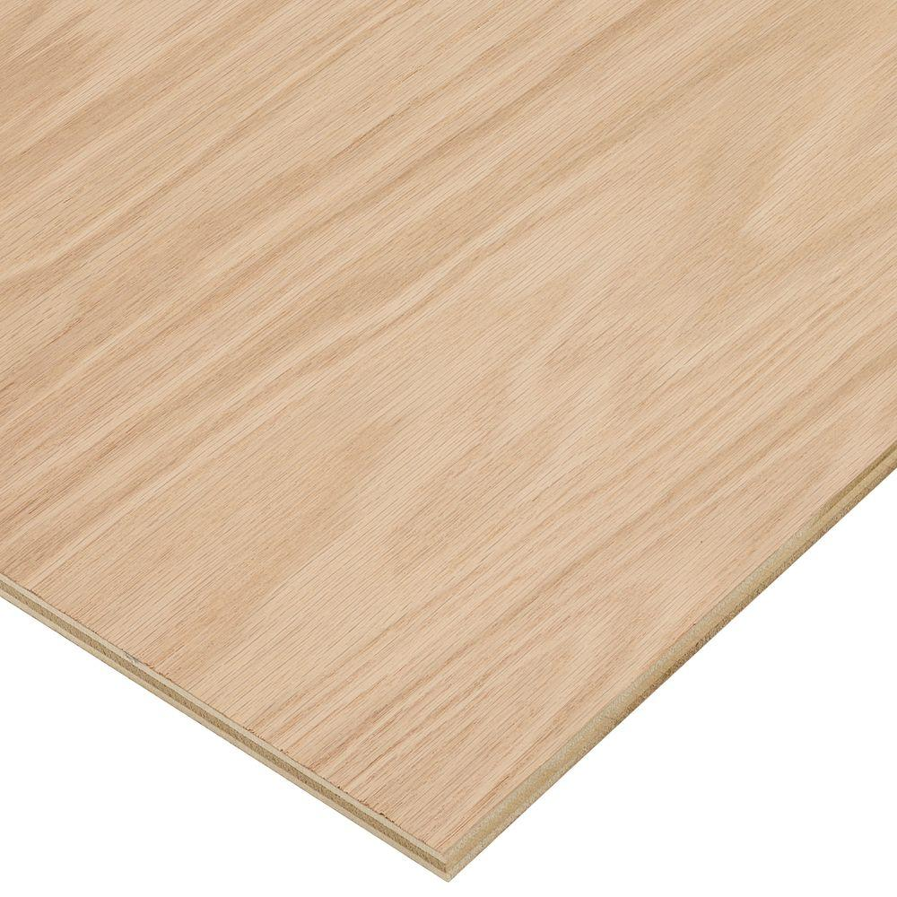 Half Inch Plywood Columbia Forest Products 1 2 In X 2 Ft X 8 Ft Purebond Red Oak Plywood Project Panel Free Custom Cut Available