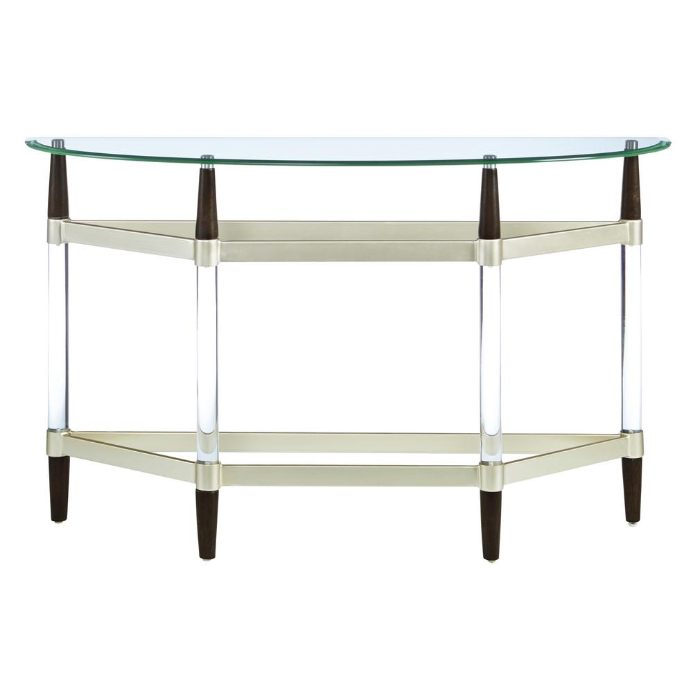 Glass Top Console Table Michigan Ave Glass Top And Lucite Sofa Console Table