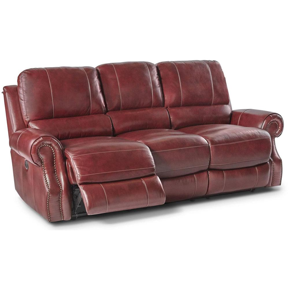 Sofa With Recliner Rustic Wine Double Reclining Sofa