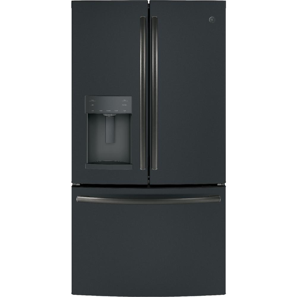 Home Depot Fridges Canada Ge 27 8 Cu Ft French Door Refrigerator With Door In Door In Black Slate Fingerprint Resistant