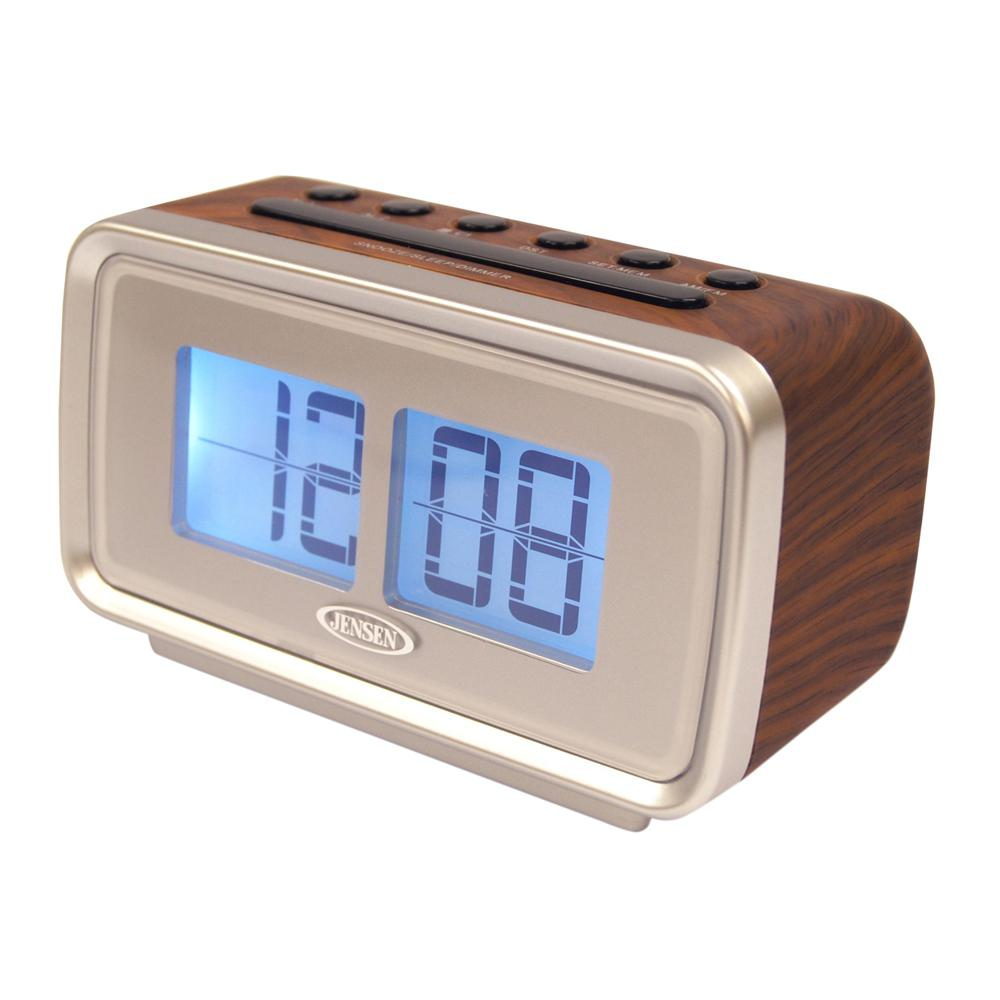 Flip Clock Jensen Am And Fm Dual Alarm Clock With Digital Retro Flip Display