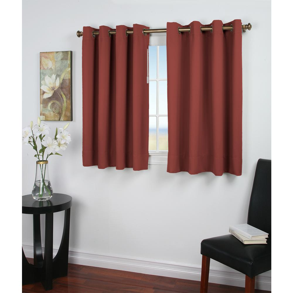 105 Inch Curtains Ricardo Trading Ultimate Blackout 56 In W X 54 In L Polyester Blackout Window Panel In Garnet