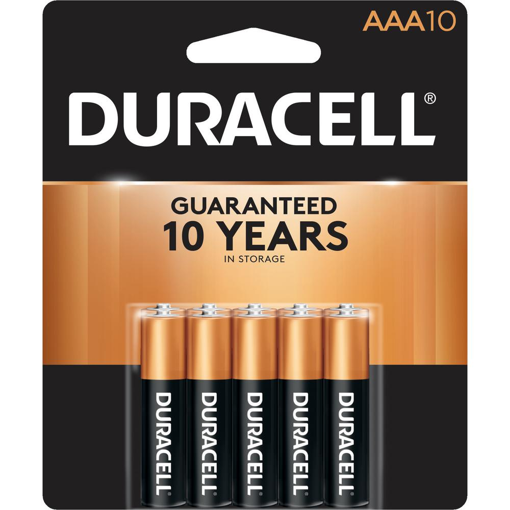 Aaa Baterien Duracell Coppertop Alkaline Aaa Battery 10 Pack