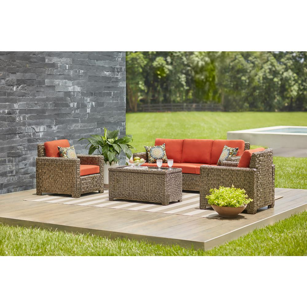 Sala Set L Style Outdoor Sectionals Outdoor Lounge Furniture The Home Depot