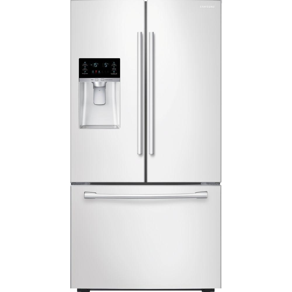 Home Depot Fridges Canada Samsung 22 5 Cu Ft French Door Refrigerator In White Counter Depth