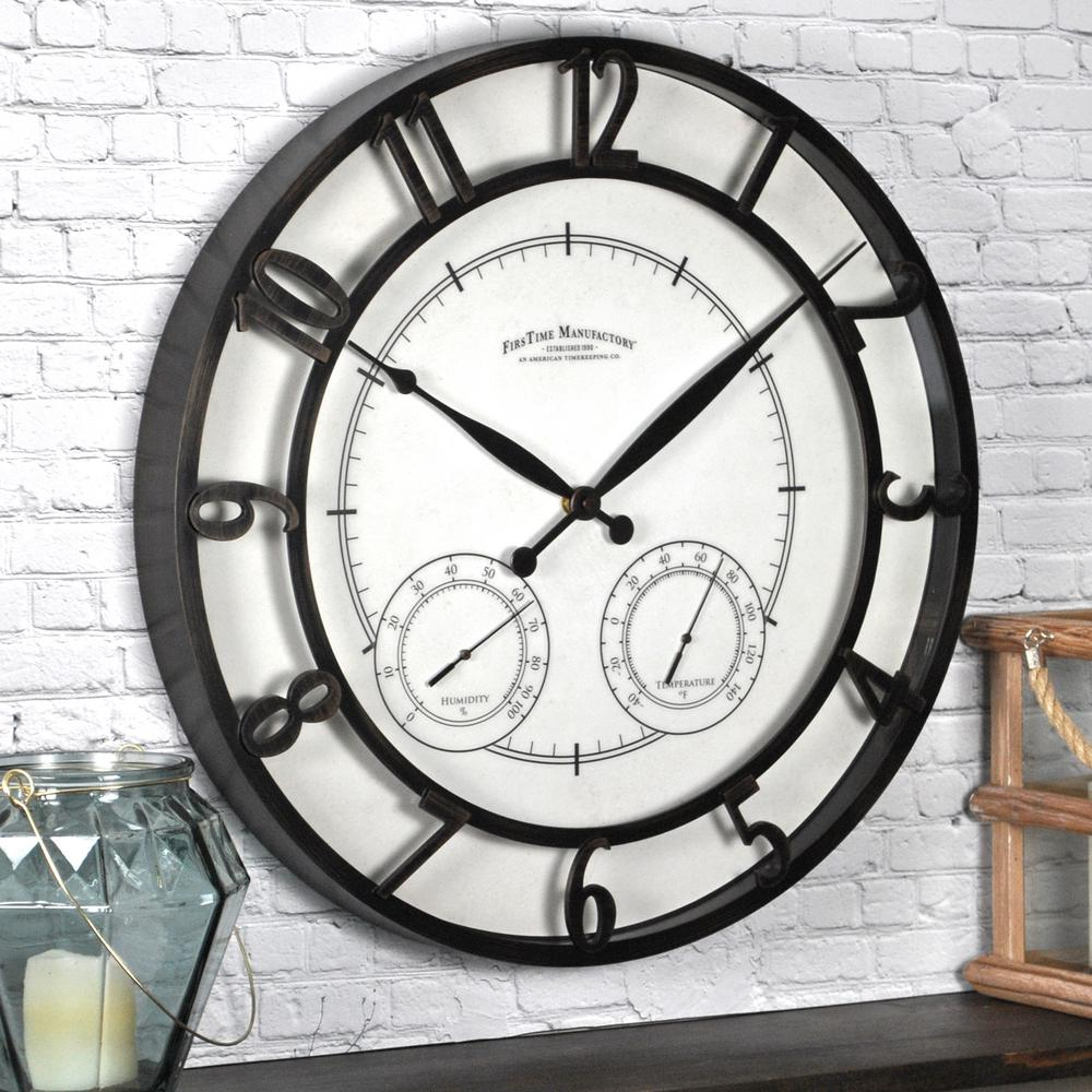Compelling Round Park Outdoor Wall Clock Ime Round Park Outdoor Wall Home Depot Standard Wall Clock Size Standard Wall Clock furniture Standard Wall Clocks