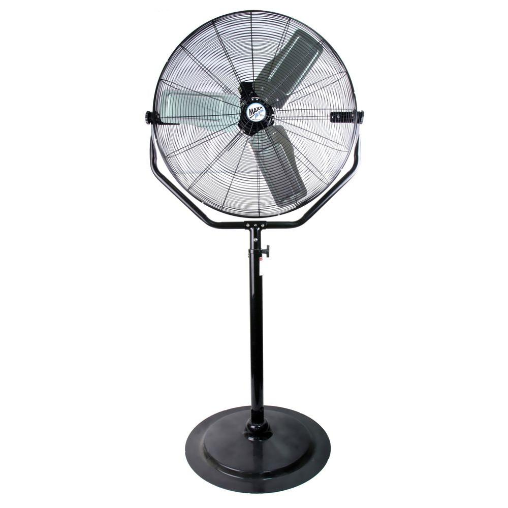 Garage Workshop Fan Maxxair Adjustable Height 30 In Pedestal Fan