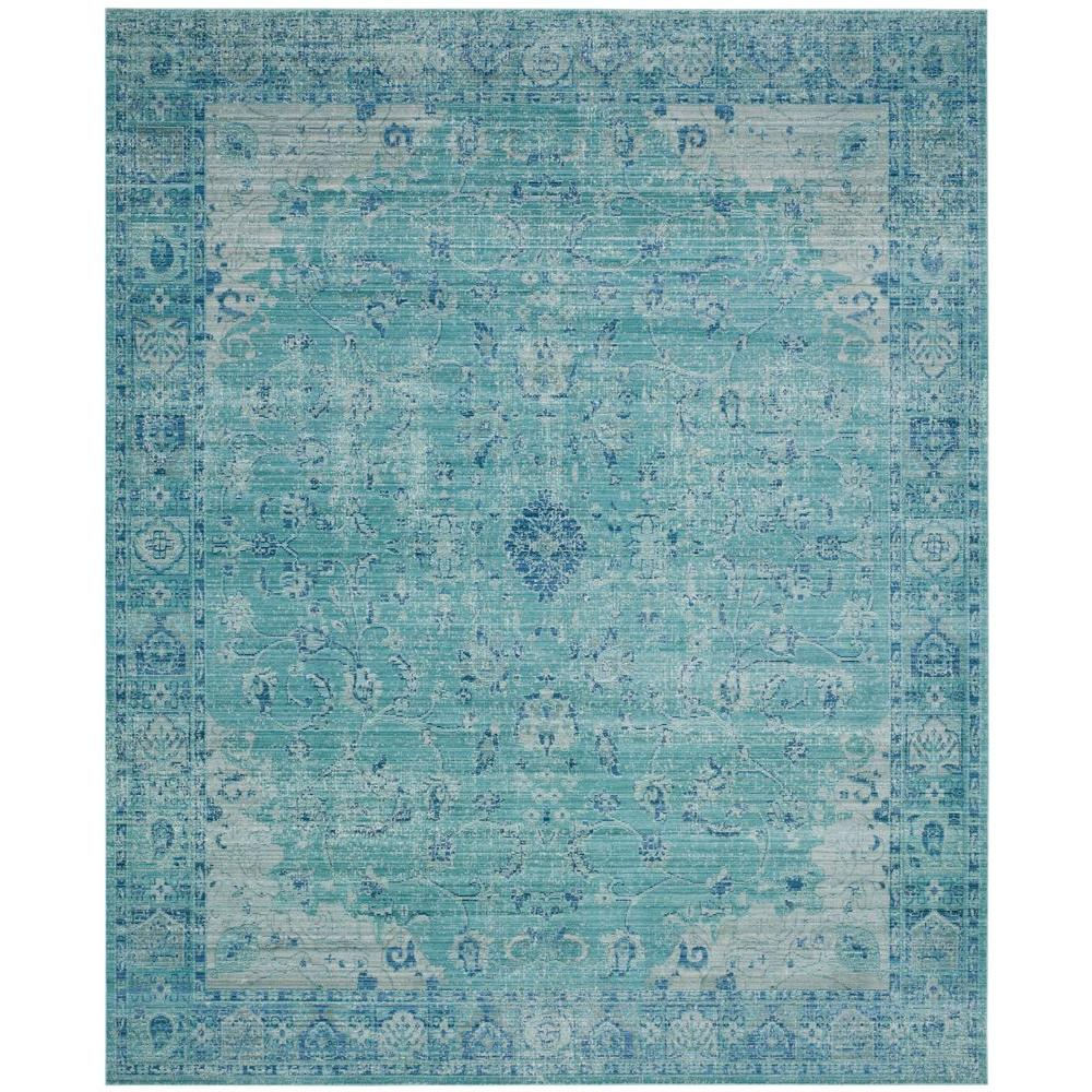 Teal Color Area Rugs Safavieh Valencia Teal Multi 9 Ft X 12 Ft Area Rug