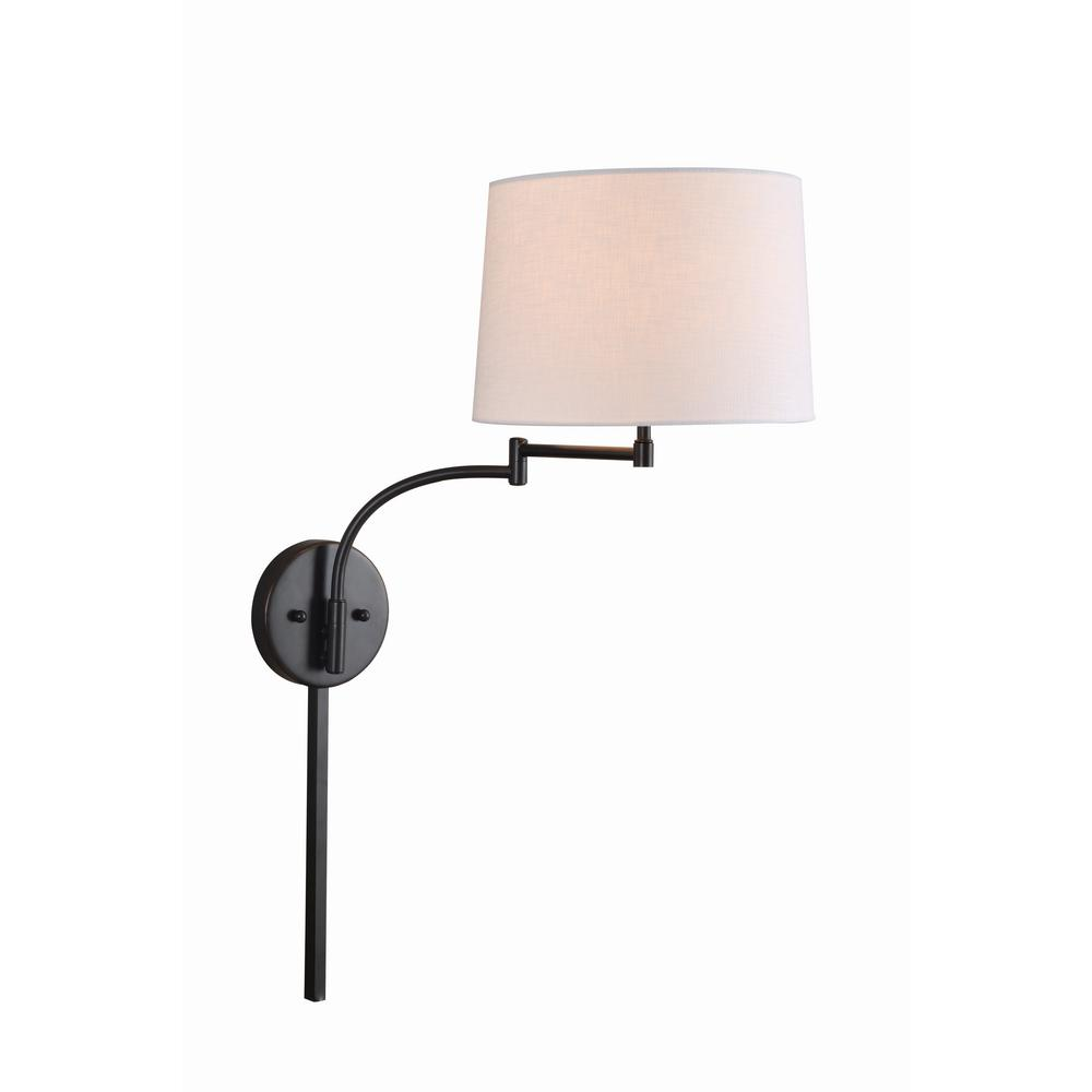 Arm Lamp Kenroy Home Seven 1 Light Oil Rubbed Bronze Wall Swing Arm Lamp