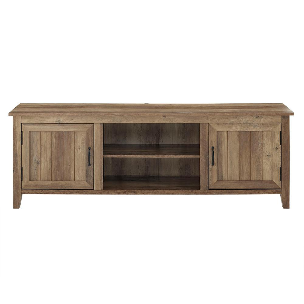 Tv Sideboard Modern Walker Edison 70 In Modern Farmhouse Entertainment Center Tv Stand Storage Console With Doors And Center Shelving In Rustic Oak