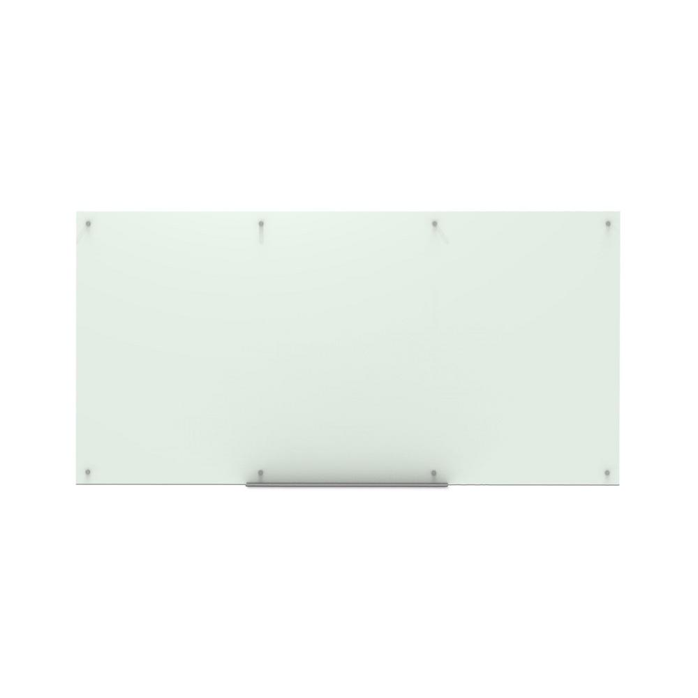 Glas Whiteboard Luxor 96 In X 48 In Magnetic Wall Mounted Glass Board
