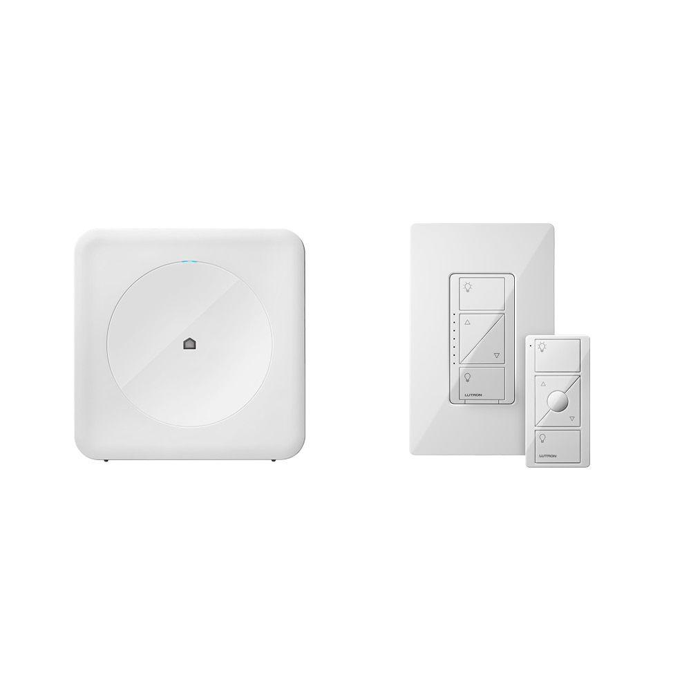Smart Home Dimmer Wink Smart Home Ambiance Kit With Wink Hub And Lutron Caseta In Wall Dimmer And Pico
