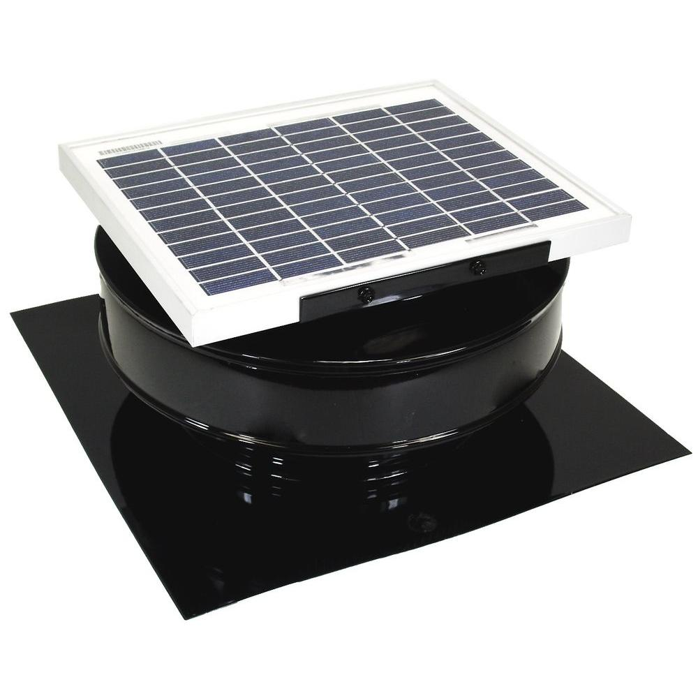 Exhaust Fan Roof Vent Active Ventilation 365 Cfm Brown Powder Coated 5 Watt Solar Powered Roof Mounted Exhaust Attic Fan
