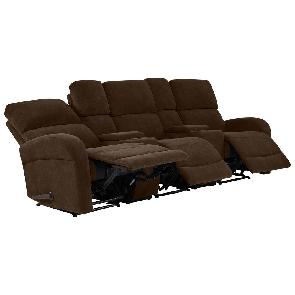 Sofas And Stuff Reviews Prolounger Chocolate Brown Chenille 3 Seat Recliner Sofa With Storage Console And Usb Ports