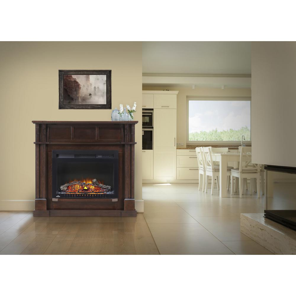 Napoleon Gas Fireplaces Napoleon 24 In Bailey Corner Mantel Package Electric Fireplace In Espresso