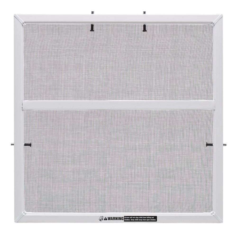 Mesh Window Screen Jeld Wen 28 In X 38 In White Aluminum Framed Window Screen With Fiberglass Mesh Insect Screen