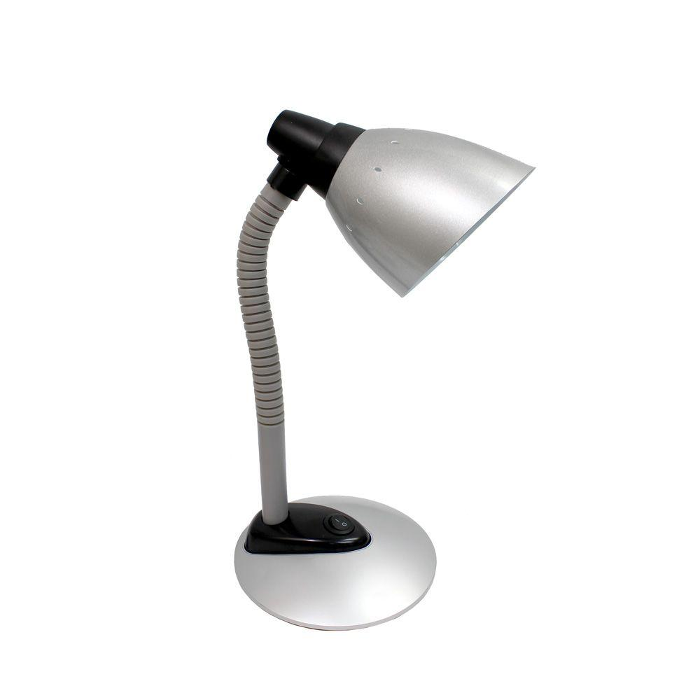 Lamp Slv Simple Designs 16 34 In Silver High Power Led Desk Lamp With Flexible Hose Neck
